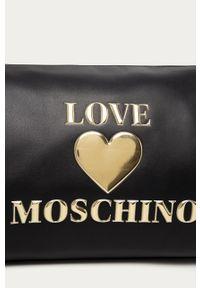 Czarna torba podróżna Love Moschino casualowa