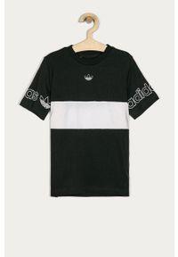 Szary t-shirt adidas Originals z nadrukiem, casualowy