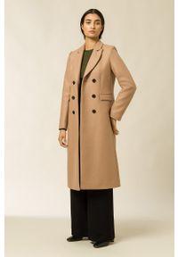 IVY & OAK - Płaszcz Celine. Okazja: na co dzień. Kolor: beżowy. Materiał: materiał, wełna. Styl: casual