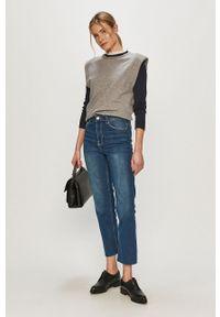 Niebieskie jeansy loose fit Brave Soul z podwyższonym stanem