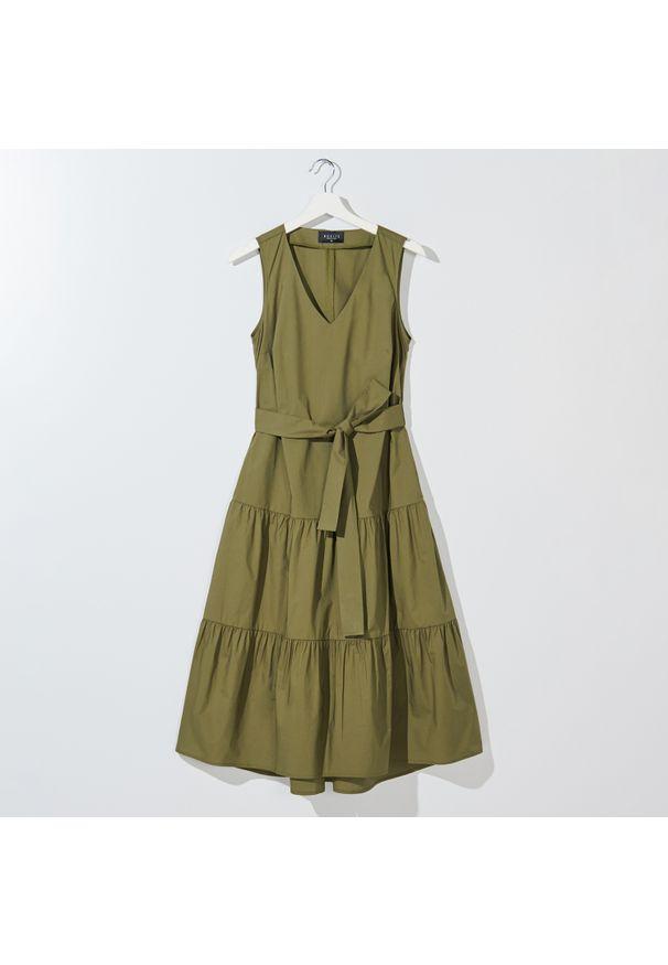 Brązowa sukienka Mohito