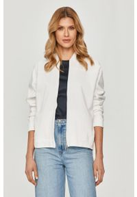 Biała bluza rozpinana Max Mara Leisure na co dzień, bez kaptura #5