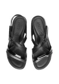Czarne sandały ecco na co dzień, casualowe