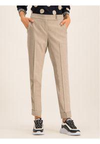 Beżowe spodnie materiałowe Laurèl