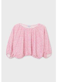 Różowa bluzka Mayoral na co dzień, casualowa, z długim rękawem