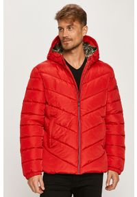 Czerwona kurtka Guess Jeans z kapturem