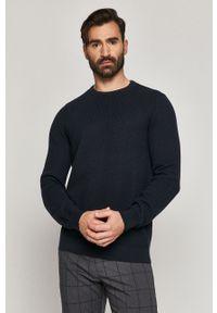 Niebieski sweter medicine casualowy, z długim rękawem