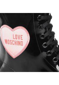 Czarne kalosze Love Moschino z cholewką, klasyczne