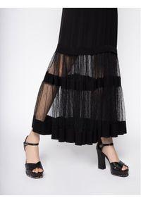 Czarna sukienka wieczorowa TwinSet