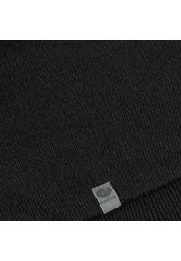 Zimowa czapka męska PaMaMi - Czarny. Kolor: czarny. Materiał: akryl. Sezon: zima. Styl: młodzieżowy, klasyczny