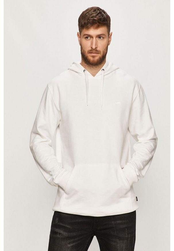Biała bluza nierozpinana Vans z kapturem