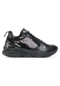 Czarne buty sportowe Trussardi Jeans