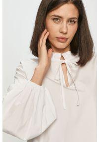Biała bluzka Samsoe & Samsoe z długim rękawem, długa, gładkie, na co dzień