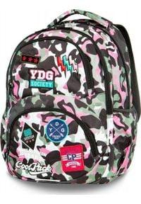 Patio Plecak szkolny Coolpack Cp Camo różowy. Kolor: różowy