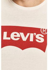Levi's® - Levi's - Longsleeve. Okazja: na co dzień, na spotkanie biznesowe. Kolor: biały. Materiał: dzianina. Długość rękawa: długi rękaw. Wzór: nadruk. Styl: biznesowy, casual