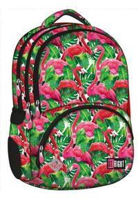 St. Majewski Plecak 4-komorowy Spine-Friendly Flamingo Pink&Green (270819)