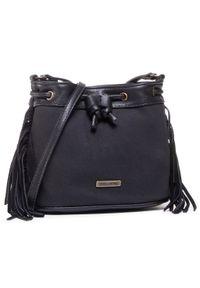 Czarna torebka worek Billabong z aplikacjami, zdobiona