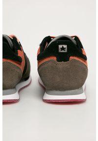 Szare buty sportowe Big-Star z okrągłym noskiem, na sznurówki, z cholewką