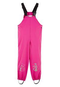 Różowe spodnie bonprix w paski