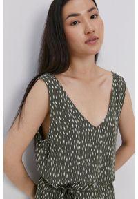 Jacqueline de Yong - Sukienka. Okazja: na co dzień. Kolor: zielony. Materiał: tkanina, wiskoza, materiał. Typ sukienki: proste. Styl: casual