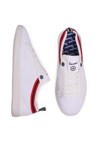 Białe sneakersy Vespa z cholewką, na co dzień