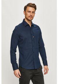 Niebieska koszula G-Star RAW z długim rękawem, długa
