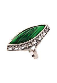 Srebrny pierścionek z malachitem, srebrny