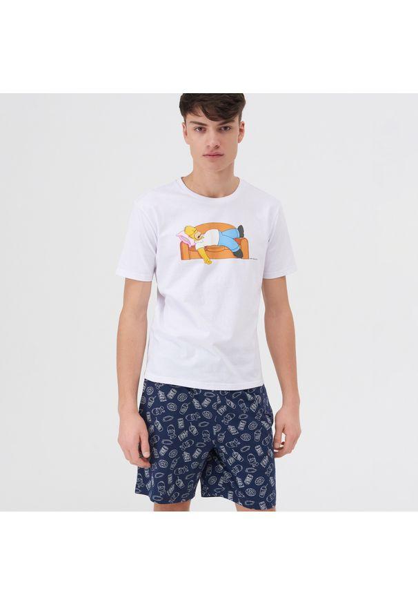 Sinsay - Piżama dwuczęściowa The Simpsons - Biały. Kolor: biały