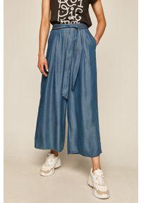 Niebieskie spodnie materiałowe medicine