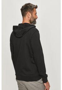 Czarna bluza rozpinana Calvin Klein Performance z kapturem, z nadrukiem, casualowa