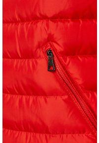 Czerwona kurtka EA7 Emporio Armani na co dzień, bez kaptura, casualowa