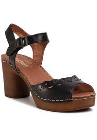Czarne sandały Manitu casualowe, na co dzień