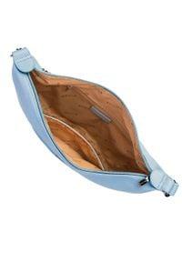 Wittchen - Damska listonoszka półksiężyc z łańcuszkiem. Kolor: niebieski. Materiał: skórzane. Styl: klasyczny, casual