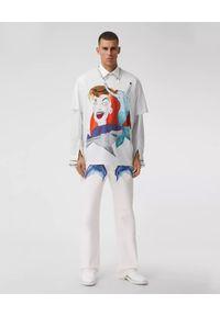 Burberry - BURBERRY - Biała koszulka z nadrukiem Sea Maiden. Kolor: biały. Materiał: prążkowany, bawełna. Wzór: nadruk