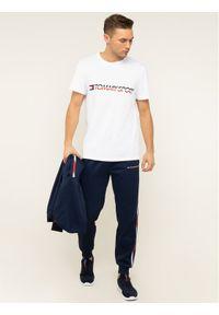 Tommy Sport T-Shirt Logo Driver S20S200486 Biały Regular Fit. Kolor: biały. Styl: sportowy