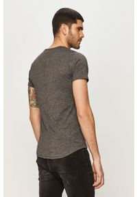 Szary t-shirt Tommy Jeans na co dzień, casualowy, melanż