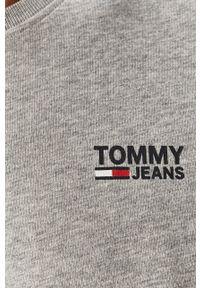 Szary t-shirt Tommy Jeans casualowy, z okrągłym kołnierzem #5