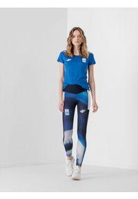 4f - Legginsy funkcyjne damskie Grecja - Tokio 2020. Stan: podwyższony. Kolor: wielokolorowy. Materiał: włókno. Sezon: lato. Sport: fitness