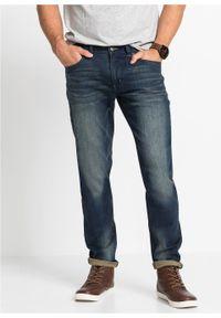 Niebieskie jeansy bonprix z aplikacjami, sportowe