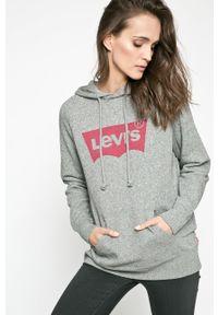 Levi's® - Levi's - Bluza. Okazja: na co dzień. Kolor: szary. Materiał: dzianina. Wzór: gładki. Styl: casual