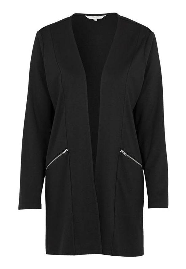 Cellbes Stylowy rozpinany sweter Czarny female czarny 46/48. Kolor: czarny. Styl: elegancki
