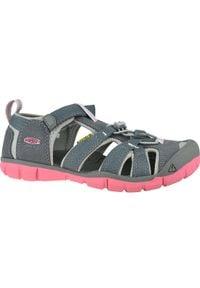 Szare sandały keen w kolorowe wzory, sportowe