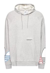 Adidas - adidas Bluza Tricol Hoody GN3571 Szary Loose Fit. Kolor: szary