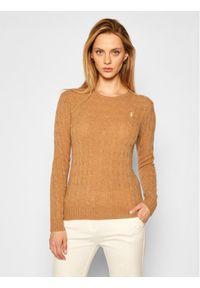 Brązowy sweter klasyczny Polo Ralph Lauren polo