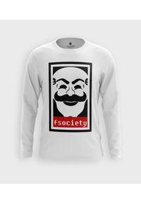 MegaKoszulki - Koszulka męska z dł. rękawem Fsociety. Materiał: bawełna