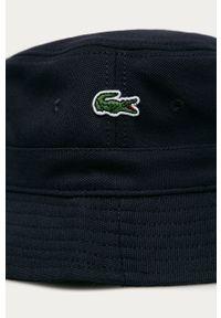 Niebieski kapelusz Lacoste gładki #4