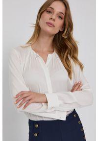 BOSS - Boss - Koszula. Okazja: na co dzień. Kolor: biały. Materiał: tkanina. Długość rękawa: długi rękaw. Długość: długie. Wzór: gładki. Styl: casual