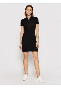 Czarna sukienka Lacoste na co dzień, casualowa, prosta