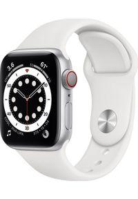 APPLE - Smartwatch Apple Watch Series 6 GPS + Cellular 40mm Silver Alu White Sport Biały (M06M3WB/A). Rodzaj zegarka: smartwatch. Kolor: biały. Styl: sportowy