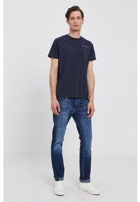 Pepe Jeans - T-shirt Ramon. Okazja: na co dzień. Kolor: niebieski. Styl: casual